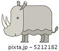 草食動物 犀 陸上動物のイラスト 5212182