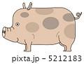 ピッグ 陸上動物 動物のイラスト 5212183