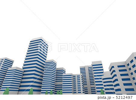 ビル群のイラスト素材 5212497 Pixta