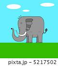 草食動物 アフリカ象 アジア象のイラスト 5217502