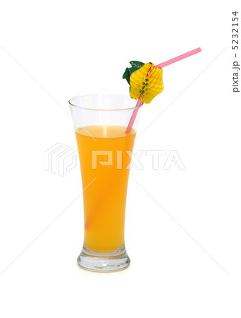 Orange juice isolated on the white backgroundの写真素材 [5232154] - PIXTA