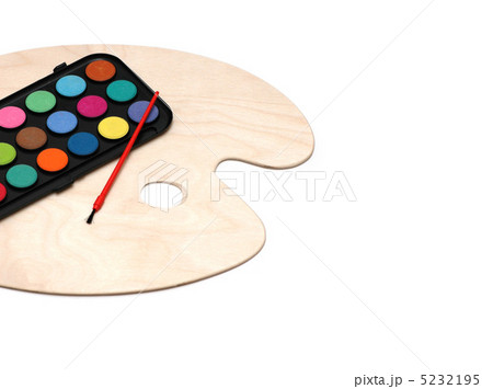 Painter's palette isolated on the white backgroundの写真素材 [5232195] - PIXTA