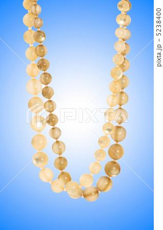Nice necklace against gradient backgroundの写真素材 [5238400] - PIXTA