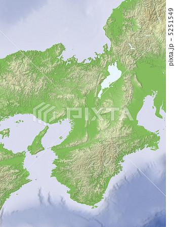 イラスト素材: 近畿地方 : 西日本地図 イラスト : イラスト