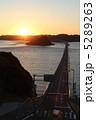 沈む夕日に掛かる橋 5289263