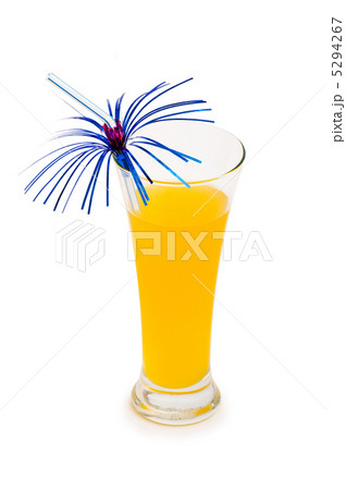 Orange cocktail isolated on the white backgroundの写真素材 [5294267] - PIXTA