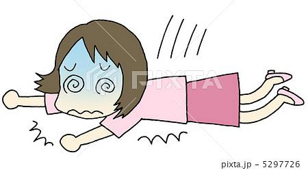 貧血 倒れる女性のイラスト素材 5297726 Pixta
