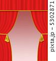 幕 緞帳 ステージカーテンのイラスト 5302871