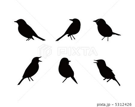シルエット 鳥のイラスト素材 ...