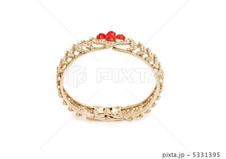 Woman bracelet isolated on the white backgroundの写真素材 [5331395] - PIXTA