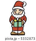 クリスマスプレゼント サンタ サンタクロースのイラスト 5332873