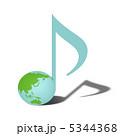 音譜 八分音符 音符のイラスト 5344368