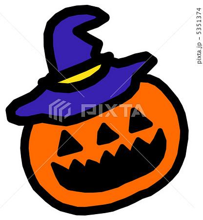 帽子のおばけかぼちゃのイラスト素材 5351374 Pixta