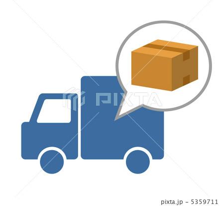 イラスト素材: 荷物運び