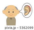 補聴器をつけたおじいさん 5362099