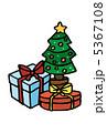 クリスマスプレゼント ツリー クリスマスツリーのイラスト 5367108