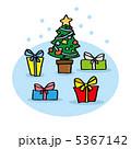 クリスマスプレゼント クリスマス クリスマスツリーのイラスト 5367142