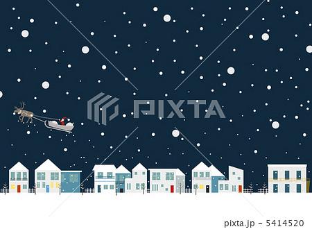 クリスマスの夜のイラスト素材 5414520 Pixta