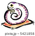 白蛇 巳 ヘビのイラスト 5421858