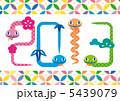 お正月 へび 蛇のイラスト 5439079