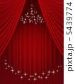 幕 緞帳 垂れ幕のイラスト 5439774