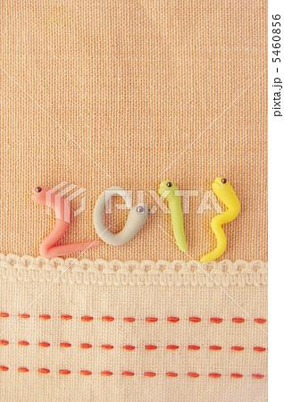 2013年 巳年年賀素材の写真素材 [5460856] - PIXTA