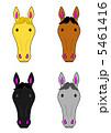 馬の顔4種 5461416