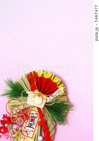 しめ縄 巳年の絵馬付き賀正 埋め飾り 縦 5467477
