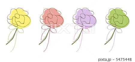 手書き 花のイラスト素材 5475448 Pixta