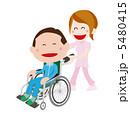 車椅子とスタッフセット 5480415