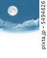 月 空 満月のイラスト 5494826