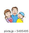 三人家族 家庭 親子のイラスト 5495495