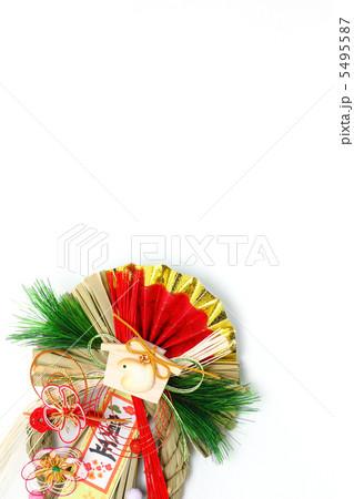 しめ縄 巳年の絵馬付き賀正 埋め飾り 縦 5495587