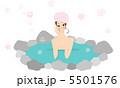 女性 温泉 人物のイラスト 5501576