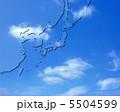 青空の東アジア・日本周辺地図 5504599