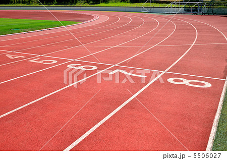 陸上競技場の写真素材 5506027 Pixta