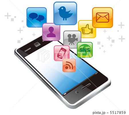 スマートフォン アプリ アイコンのイラスト素材 5517859 Pixta