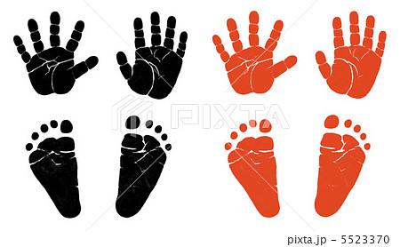 手形と足形のイラスト素材 [5523...