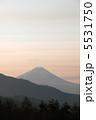 朝の富士山 5531750