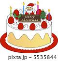 クリスマスケーキ ショートケーキ いちごショートのイラスト 5535844