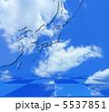 青空の東アジア・日本周辺地図 5537851