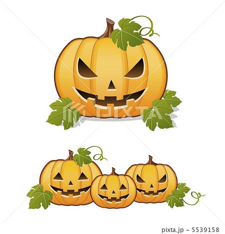 ハロウィーン お化けかぼちゃ ジャックオーランタンのイラスト素材