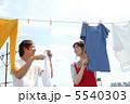 干す 洗濯物 物干しの写真 5540303