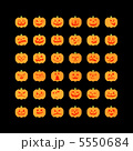 お化けカボチャ / Jack-O-Lantern /Black Background 5550684