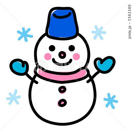 手書き雪だるま