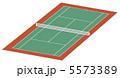 テニス場 庭球場 テニスのイラスト 5573389