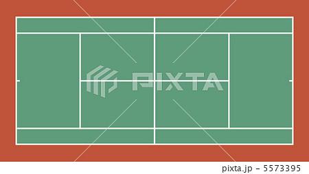 テニスコート(ハード)-7 5573395