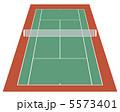 テニス場 庭球場 テニスのイラスト 5573401
