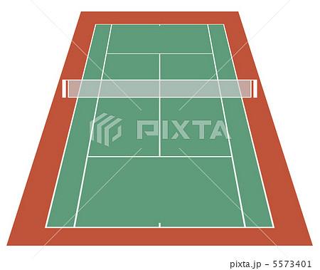 テニスコートハード 13のイラスト素材 5573401 Pixta