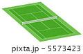 テニス場 庭球場 テニスのイラスト 5573423